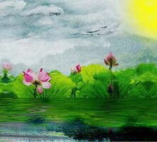 The Approaching Storm with Floral Wash by GolemAura