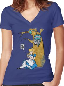 Wonderland GO Women's Fitted V-Neck T-Shirt