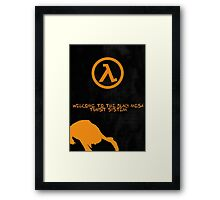 Half Life Black Mesa Framed Print