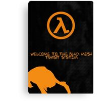 Half Life Black Mesa Canvas Print