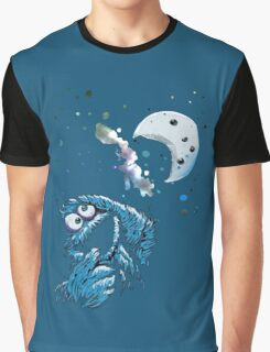 Cookie Monster And The Cookie Moon Graphic T-Shirt