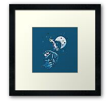Cookie Monster And The Cookie Moon Framed Print