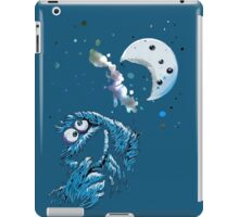 Cookie Monster And The Cookie Moon iPad Case/Skin