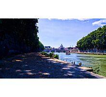 Lungotevere, Tiber, Rome Photographic Print