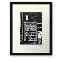 Old Streer Lamp Framed Print