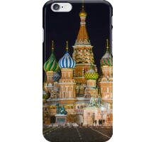 St. Basil's at Night iPhone Case/Skin