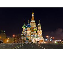 St. Basil's at Night Photographic Print