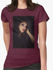 happy Gothic woman   Womens Fitted T-Shirt