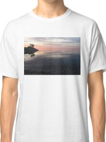 Silky Morning on the Lake - Pink and Purple Serenity Classic T-Shirt