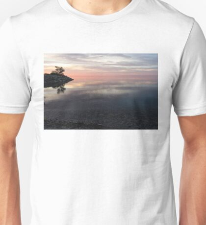 Silky Morning on the Lake - Pink and Purple Serenity Unisex T-Shirt