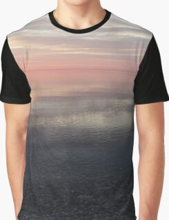 Silky Morning on the Lake - Pink and Purple Serenity Graphic T-Shirt