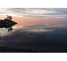 Silky Morning on the Lake - Pink and Purple Serenity Photographic Print