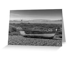 Boat and Mill Greeting Card