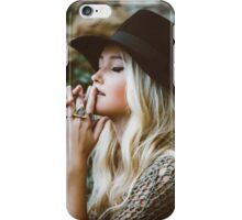 charming blonde woman in nature  iPhone Case/Skin