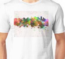 Edmonton skyline in watercolor background Unisex T-Shirt