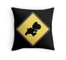Yoshi Crossing Throw Pillow