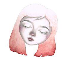 watercolor girl Photographic Print