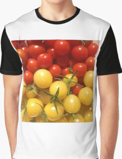 Red and Gold Cherry Tomatoes Graphic T-Shirt