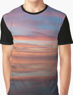Colorful Morning Mirror - Spectacular Sky Reflections at Dawn Graphic T-Shirt