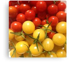 Red and Gold Cherry Tomatoes Canvas Print