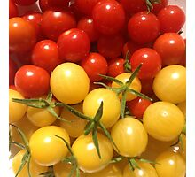 Red and Gold Cherry Tomatoes Photographic Print