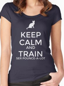Keep calm and train Ser Pounce-a-lot Women's Fitted Scoop T-Shirt