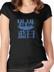Firefly Jayne Cobb blue sun grunge Women's Fitted Scoop T-Shirt