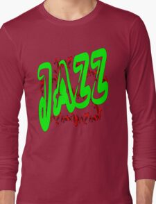 Jazz in Green Long Sleeve T-Shirt