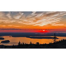 Overlooking Frenchman Bay Photographic Print