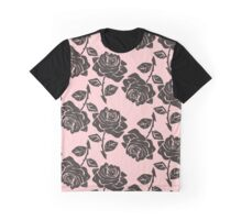 Abstract Rose Pink Flower Graphic T-Shirt
