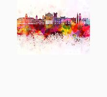 Trieste skyline in watercolor background Unisex T-Shirt