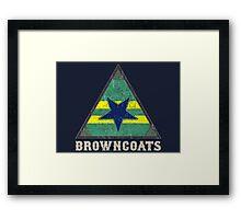 Firefly Browncoats crest grunge Framed Print