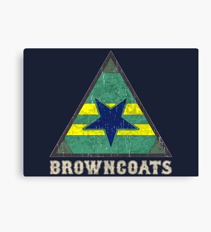 Firefly Browncoats crest grunge Canvas Print