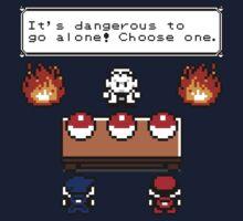 Dangerous to go alone choose a pokemon! One Piece - Short Sleeve