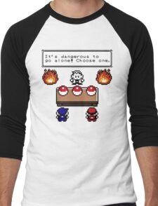 Dangerous to go alone choose a pokemon! Men's Baseball ¾ T-Shirt