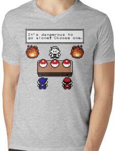 Dangerous to go alone choose a pokemon! Mens V-Neck T-Shirt
