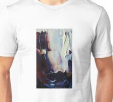 Abstract Prussian Blue Flying Kites 1 Acrylics On  Canvas Board Unisex T-Shirt