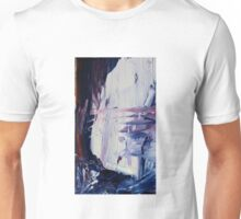 Abstract Prussian Blue Flying Kites 2 Acrylics On  Canvas Board Unisex T-Shirt