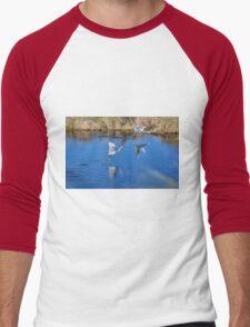 Feathered Fishermen Men's Baseball ¾ T-Shirt