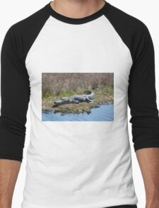 Smiling Gator Men's Baseball ¾ T-Shirt