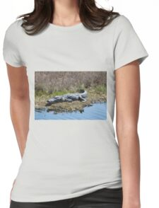 Smiling Gator Womens Fitted T-Shirt
