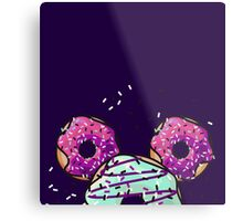 Pop Donut -  Berry Frosting Metal Print