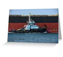 PB DIAMANTINA - PB TOWAGE TUG Greeting Card