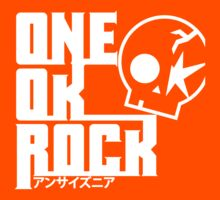 One Ok Rock with skull White Kids Tee
