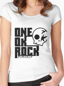 One Ok Rock with skull Black Women's Fitted Scoop T-Shirt
