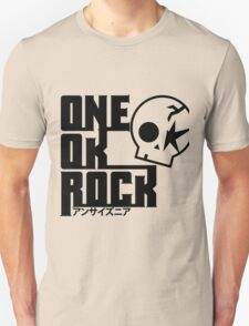One Ok Rock with skull Black Unisex T-Shirt