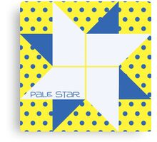 Pale Star Yellow Blue Canvas Print