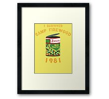 I Survived Camp Firewood Framed Print