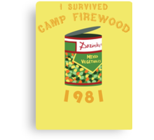 I Survived Camp Firewood Canvas Print