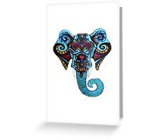 Vibrant Circus Elephant Greeting Card